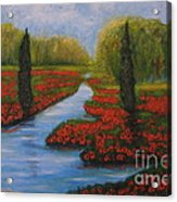 Poppies Guards Acrylic Print by Elena  Constantinescu