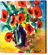 Poppies In A Vase Acrylic Print