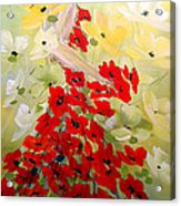 Poppies Lady Acrylic Print