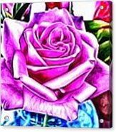 Poppin Purple Rose Acrylic Print