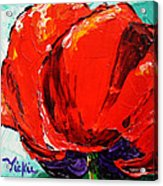 Poppy 3 Acrylic Print by Vickie Warner