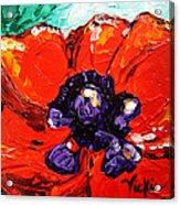 Poppy 4 Acrylic Print by Vickie Warner