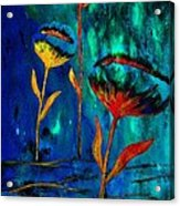 Poppy At Night Abstract 1 Acrylic Print