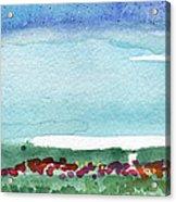 Poppy Field- Landscape Painting Acrylic Print