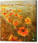 Poppy Field  Triptic Right Acrylic Print