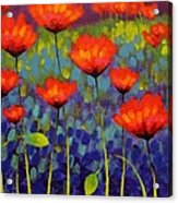Poppy Meadow   Cropped 2 Acrylic Print