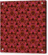 Poppy Sierpinski Triangle Fractal Acrylic Print