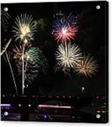 Pops On The River Fireworks Acrylic Print