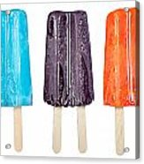 Popsicles Isolated On White Acrylic Print