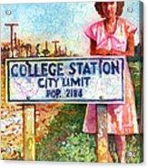 Population 2184 Acrylic Print