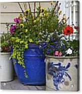 Porch Flowers Acrylic Print by Steve and Sharon Smith