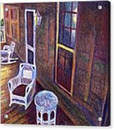 Porch In Golden Light Acrylic Print
