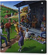 Porch Music And Flatfoot Dancing - Mountain Music - Appalachian Traditions - Appalachia Farm Acrylic Print