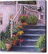Porch With Watering Cans Acrylic Print