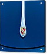 Porsche 1600 Super Hood Emblem Acrylic Print by Jill Reger