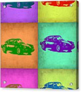 Porsche 911 Pop Art 2 Acrylic Print by Naxart Studio