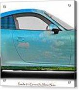 Porsche 911 Skaane Skies Acrylic Print