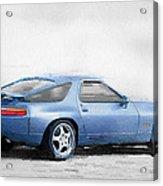 Porsche 928 Watercolor Acrylic Print