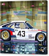 Porsche 935 Coupe Moby Dick Acrylic Print by Yuriy  Shevchuk