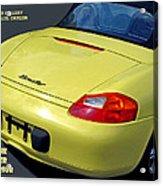 Porsche Boxster Posterior Acrylic Print