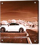 Porsche Car Side Profile Brown Near Infrared  Acrylic Print