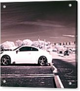 Porsche Car Side Profile Pink Near Infrared Acrylic Print