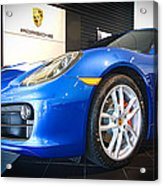 Porsche Cayman S In Sapphire Blue Acrylic Print
