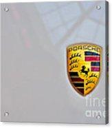 Porsche Emblem Acrylic Print by Andres LaBrada