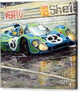 Porsche Psychedelic 917lh  1970  Le Mans 24  Acrylic Print