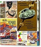 Porsche Racing Posters Collage Acrylic Print by Don Struke
