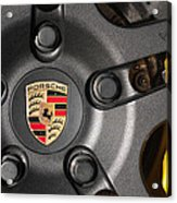 Porsche Vorsteiner Wheel Logo Acrylic Print