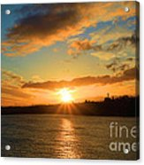 Port Angeles Sunburst Acrylic Print