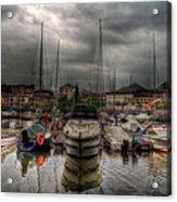 Port At Como Lake Acrylic Print