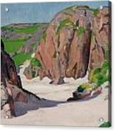 Port Bhan  Iona Acrylic Print by Francis Campbell Boileau Cadell
