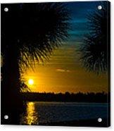 Port Charlotte Beach Sunset In January Acrylic Print by Anne Kitzman