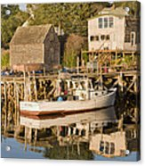 Port Clyde Maine Boats And Harbor Acrylic Print