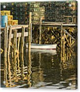 Port Clyde Maine Small Boat And Harbor Acrylic Print