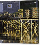 Port Clyde Pier On The Coast Of Maine Acrylic Print