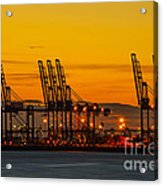 Port Of Felixstowe Acrylic Print by Svetlana Sewell