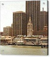 Port of San Francisco Painting Acrylic Print