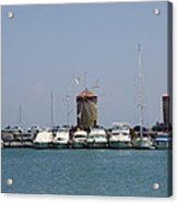 Port Of The Myloi - Rhodos City Acrylic Print