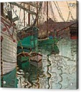 Port Of Trieste Acrylic Print by Egon Schiele