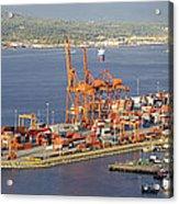 Port Of Vancouver Panorama Acrylic Print