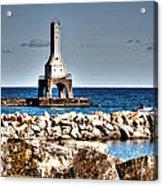 Port Washington Breakwater Light Acrylic Print