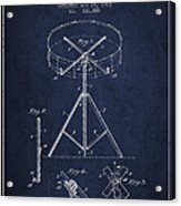 Portable Drum Patent Drawing From 1903 - Blue Acrylic Print