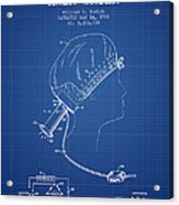 Portable Hair Dryer Patent From 1968 - Blueprint Acrylic Print