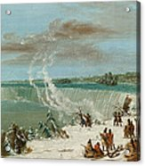 Portage Around The Falls Of Niagara At Table Rock Acrylic Print