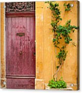 Porte Rouge Acrylic Print