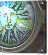 Porthole To The Secret Garden Acrylic Print