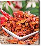 Portion Of Dried Chillies Acrylic Print